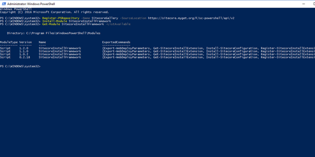 Installing Sitecore 9: Install the Sitecore Installation Framework Module