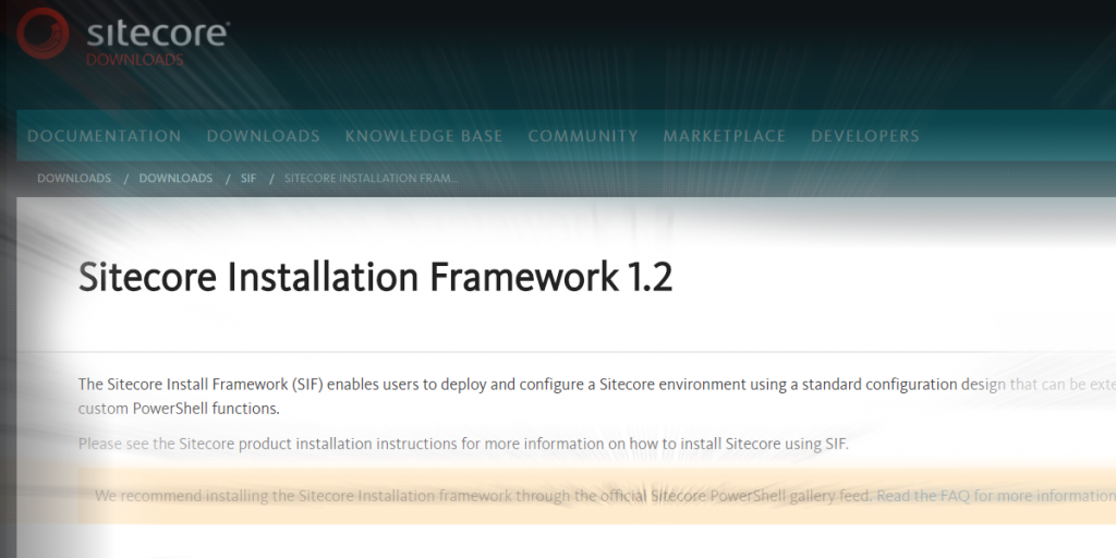 Installing Sitecore 9: What is the Sitecore Install Framework